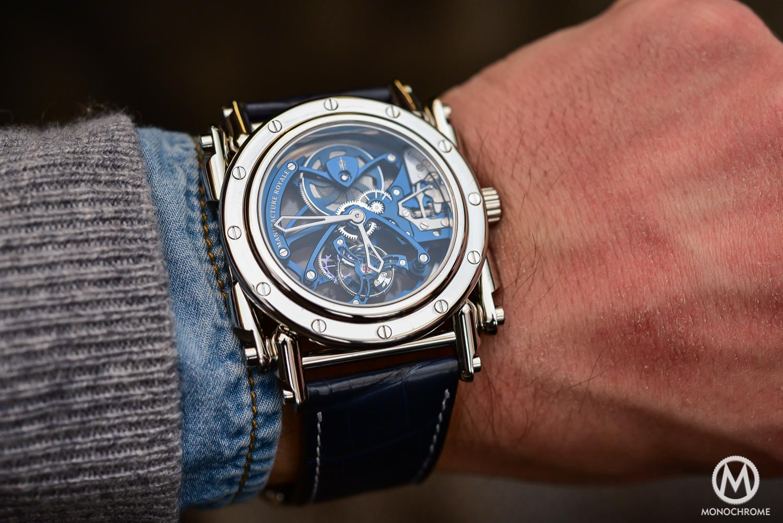 Manufacture Royale Androgyne Royale Skeleton Tourbillon Steel blue