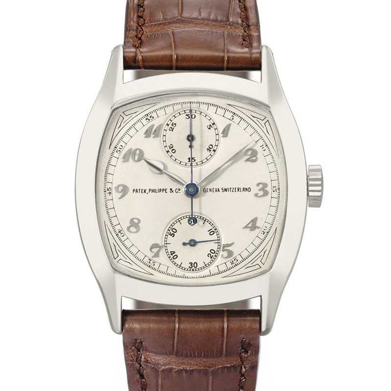 patek Cushion-shaped Singe Button Chronograph - Shaped Watches by Vacheron Constantin and Patek Philippe