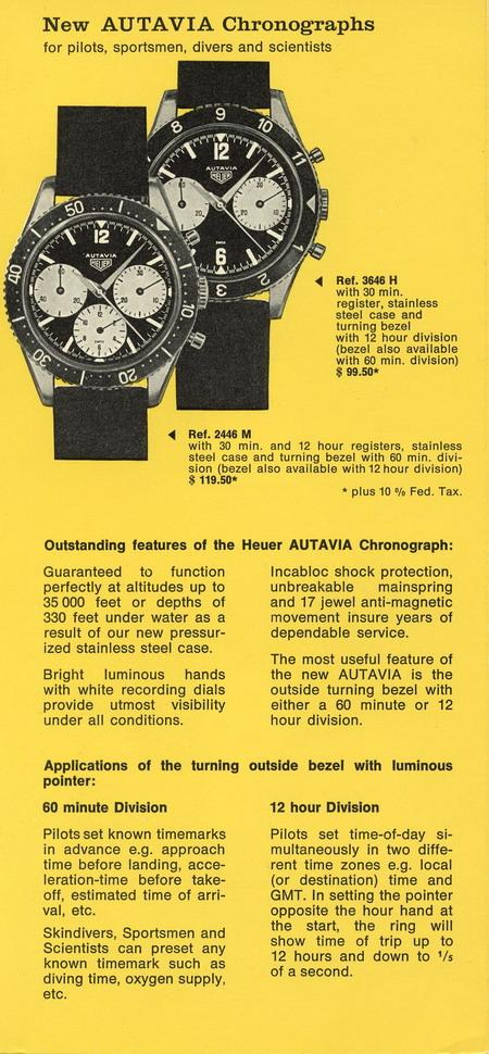 vintage heuer autavia advertisement