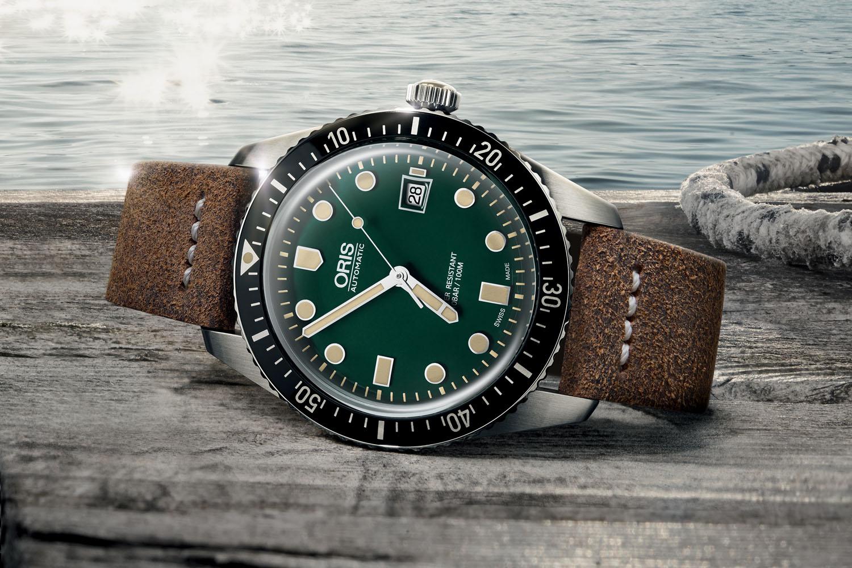 Oris Divers Sixty-Five green