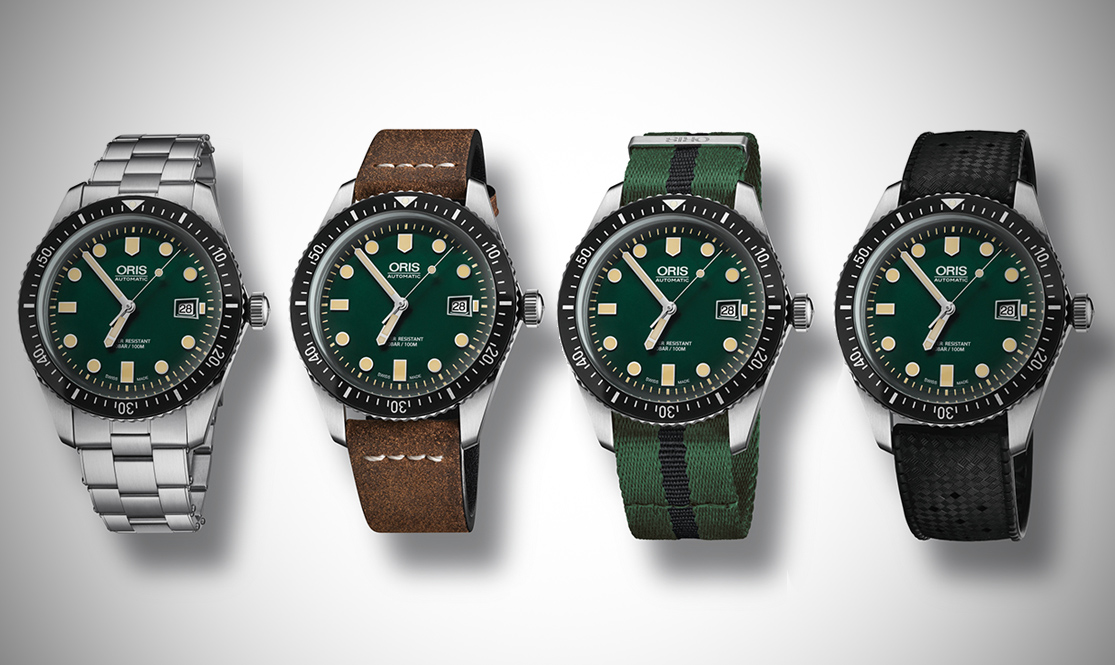 Oris Divers Sixty-Five green