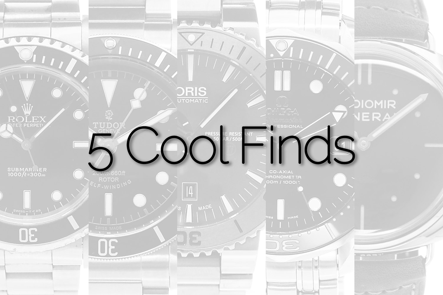 5 Cool Finds Chronext - Essential Dive Watches