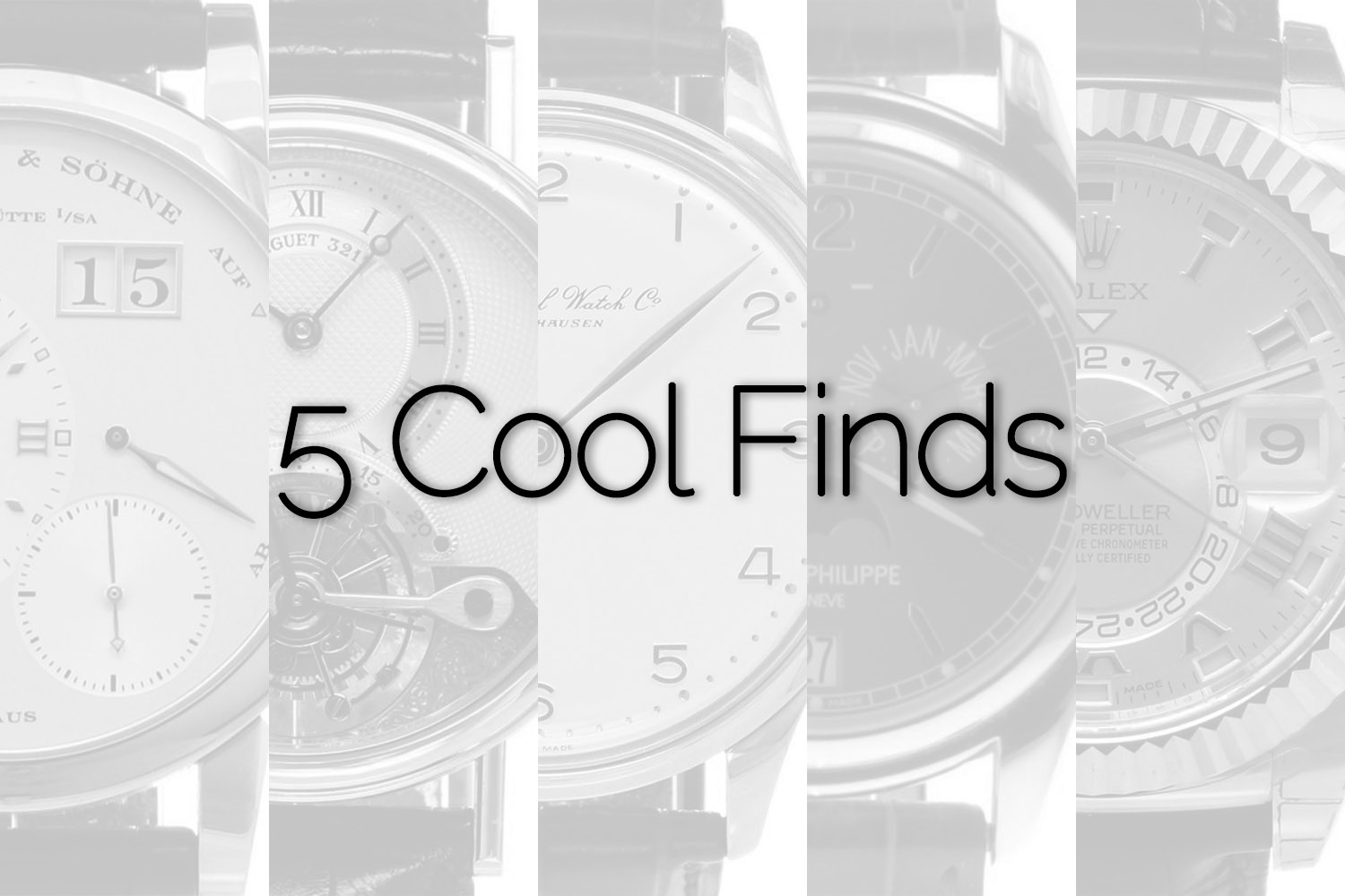 5 Cool Finds Chronext - super-complicated watches
