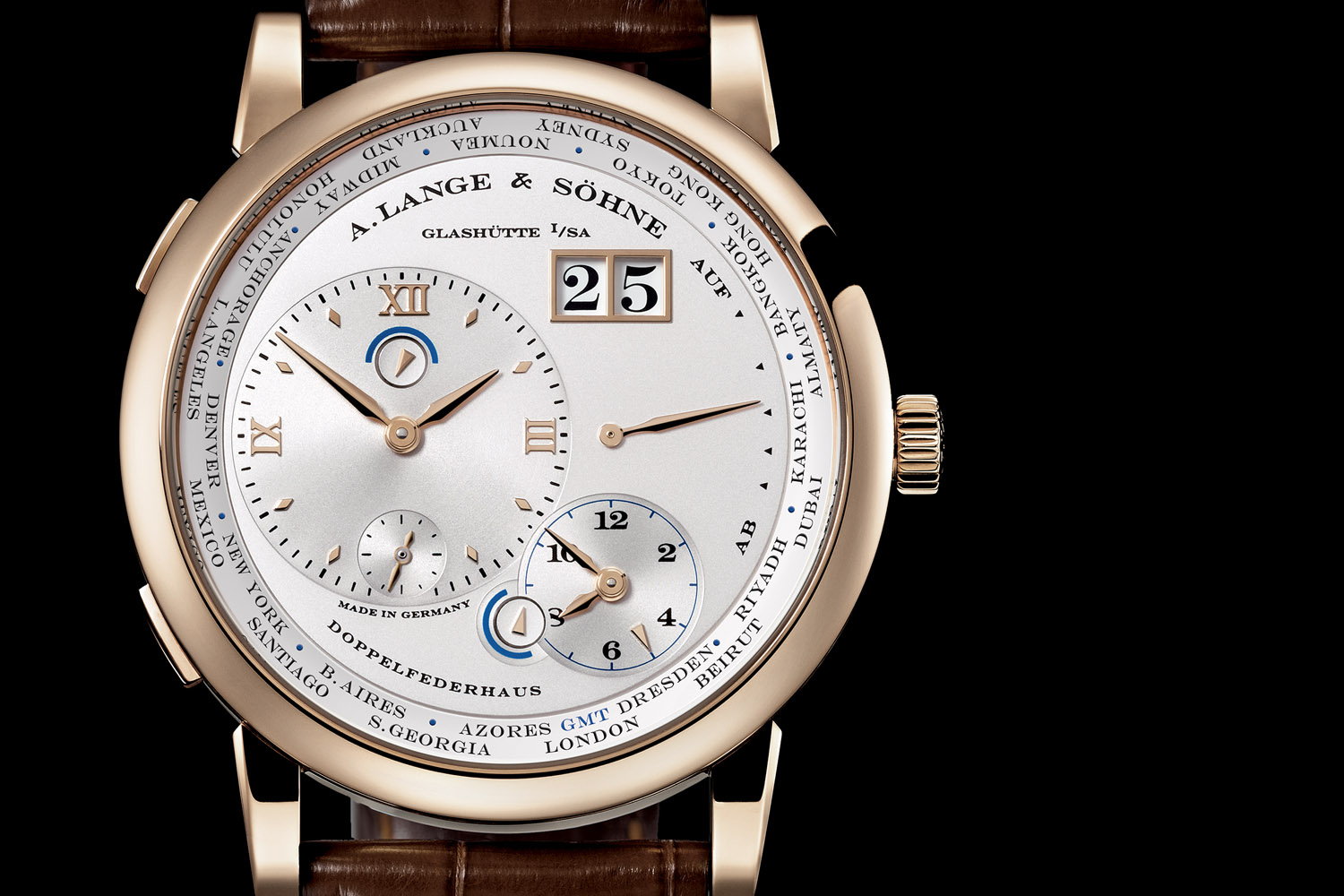 A. Lange Sohne Lange 1 TimeZone honey gold special edition - Dresden Dial