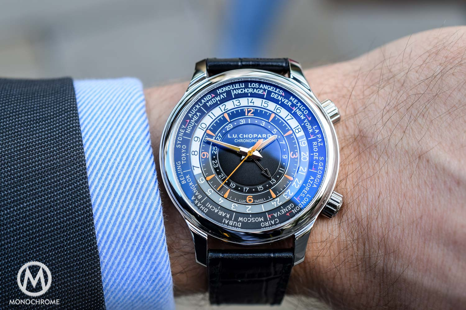 Chopard LUC Time Traveller One stainless steel