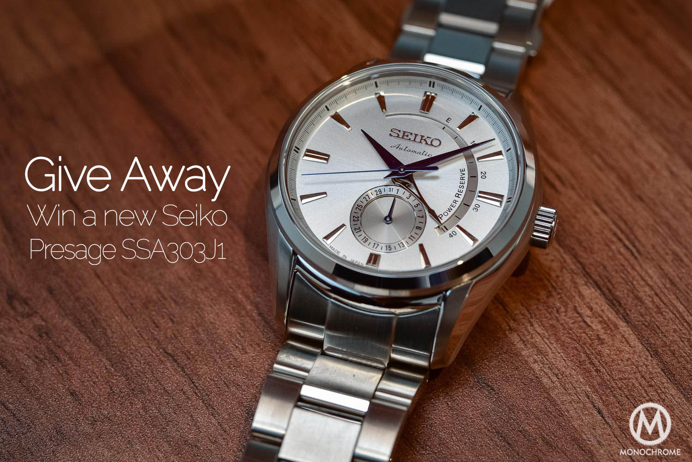 f64b668e465 GIVE AWAY - Win a Seiko Presage SSA303J1 Wrist Watch - Monochrome ...