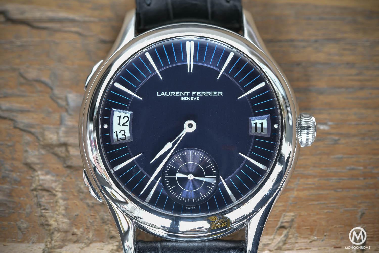 Laurent Ferrier Galet Traveller - White Gold Blue Dial