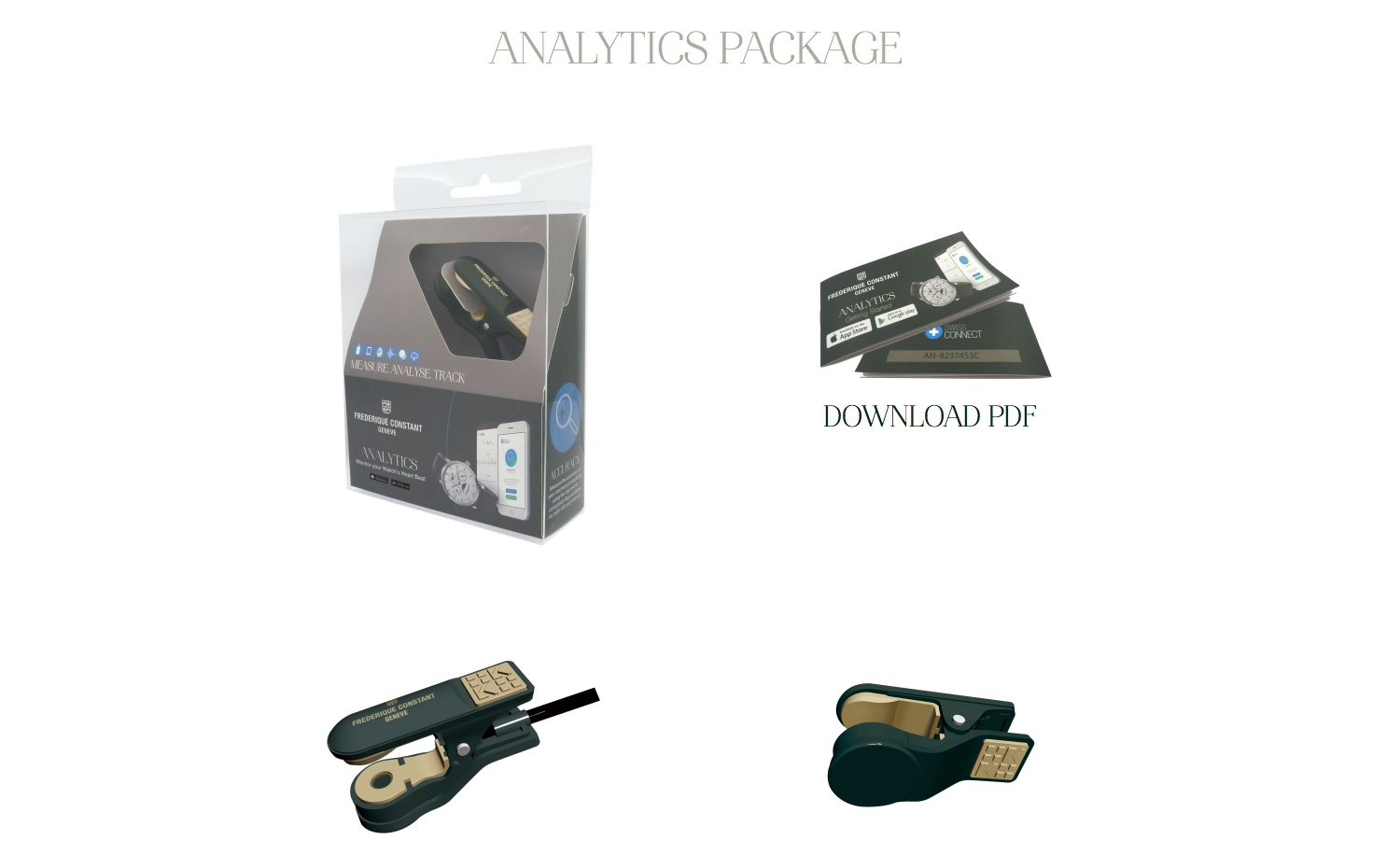Frederique Constant Analytics Clip – Real Time Analytics For Your Watch