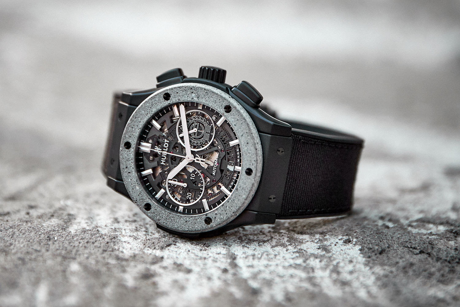 Hublot Classic Fusion Aerofusion Chronograph Concrete Jungle made with Artist Tristan Eaton