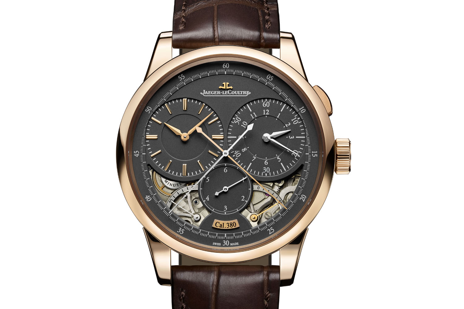 Jaeger-LeCoultre Duometre magnetite grey dials pink gold - SIHH 2017