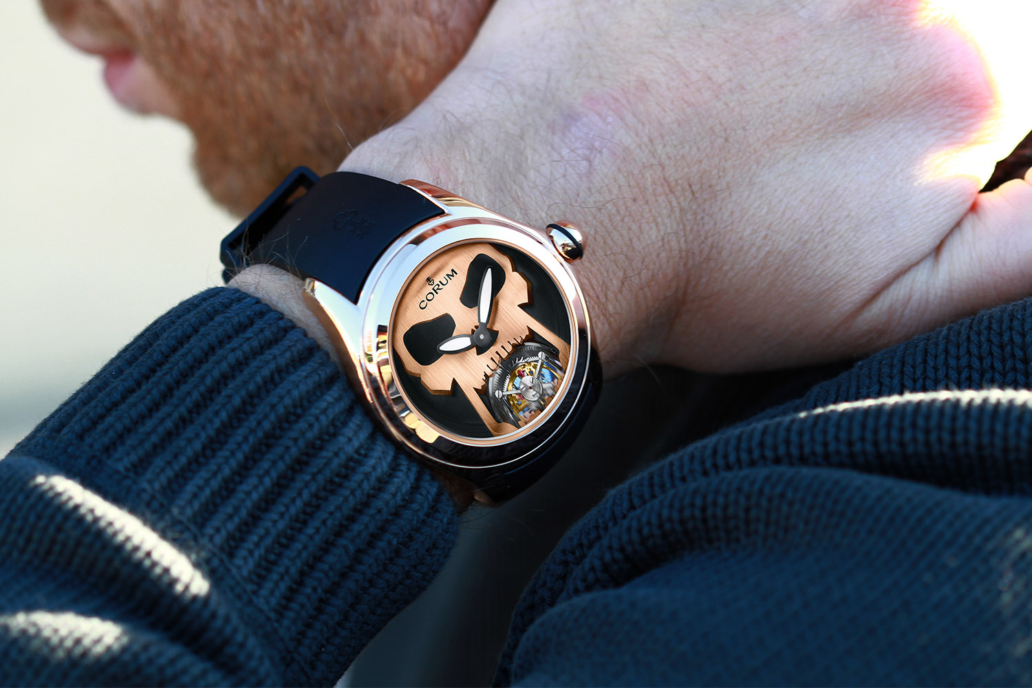 Corum Bubble 47 Flying Tourbillon Skull