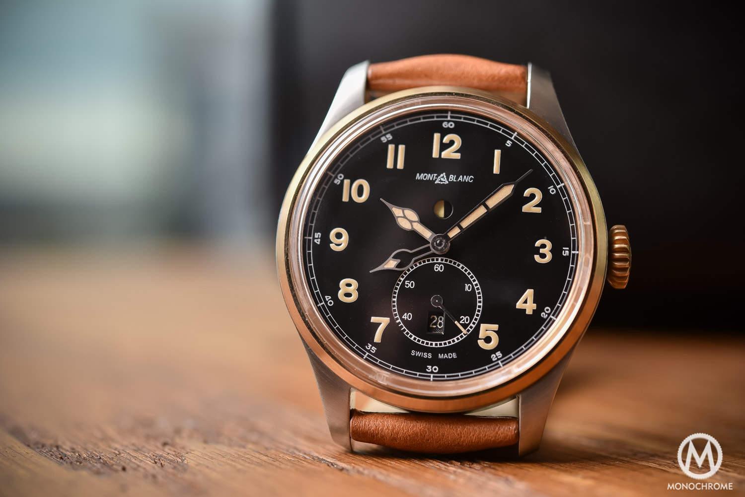 Montblanc 1858 Automatic Dual Time Bronze - Review Price