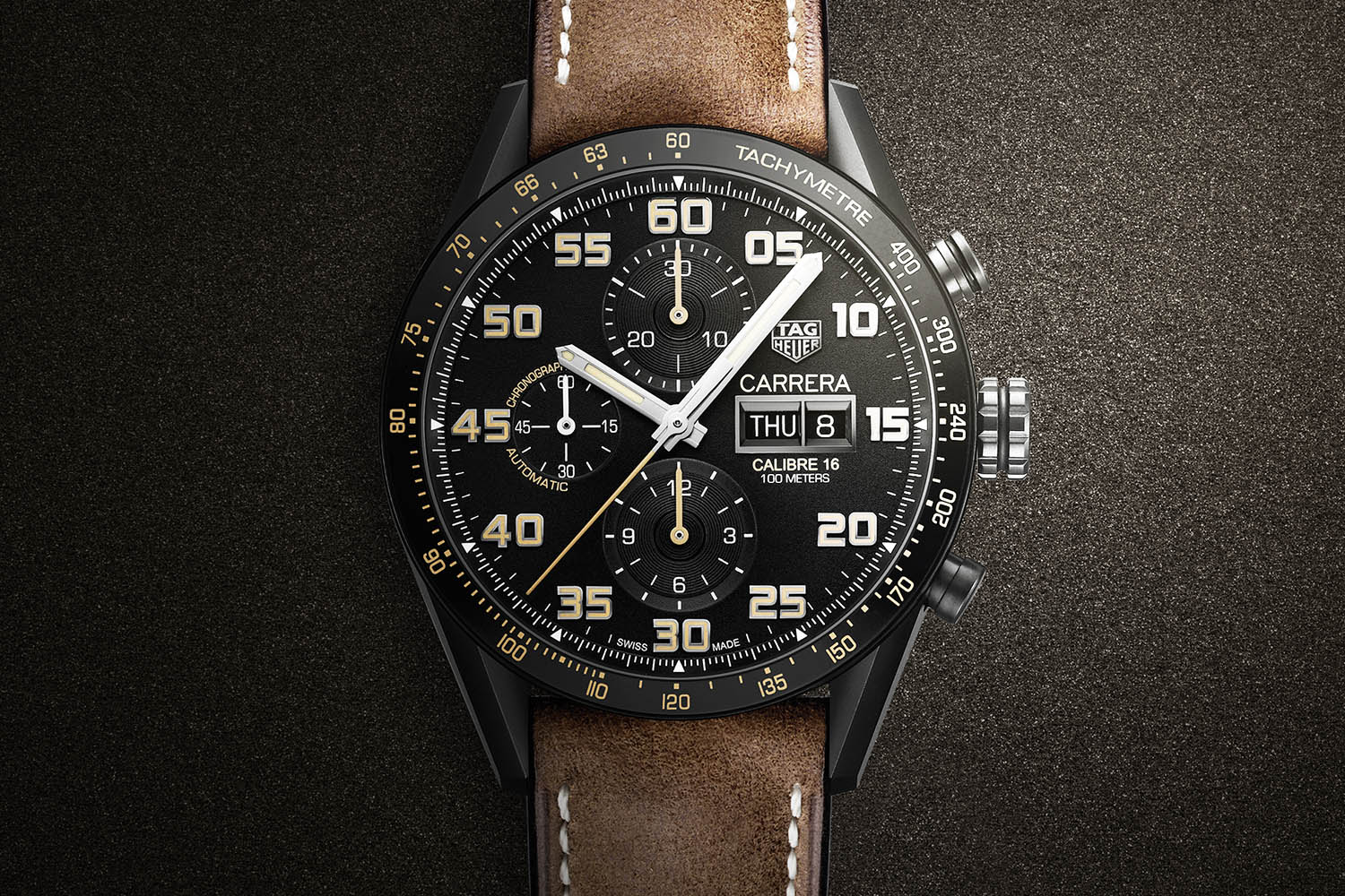 TAG Heuer Carrera Calibre 16 Chrono Black Titanium