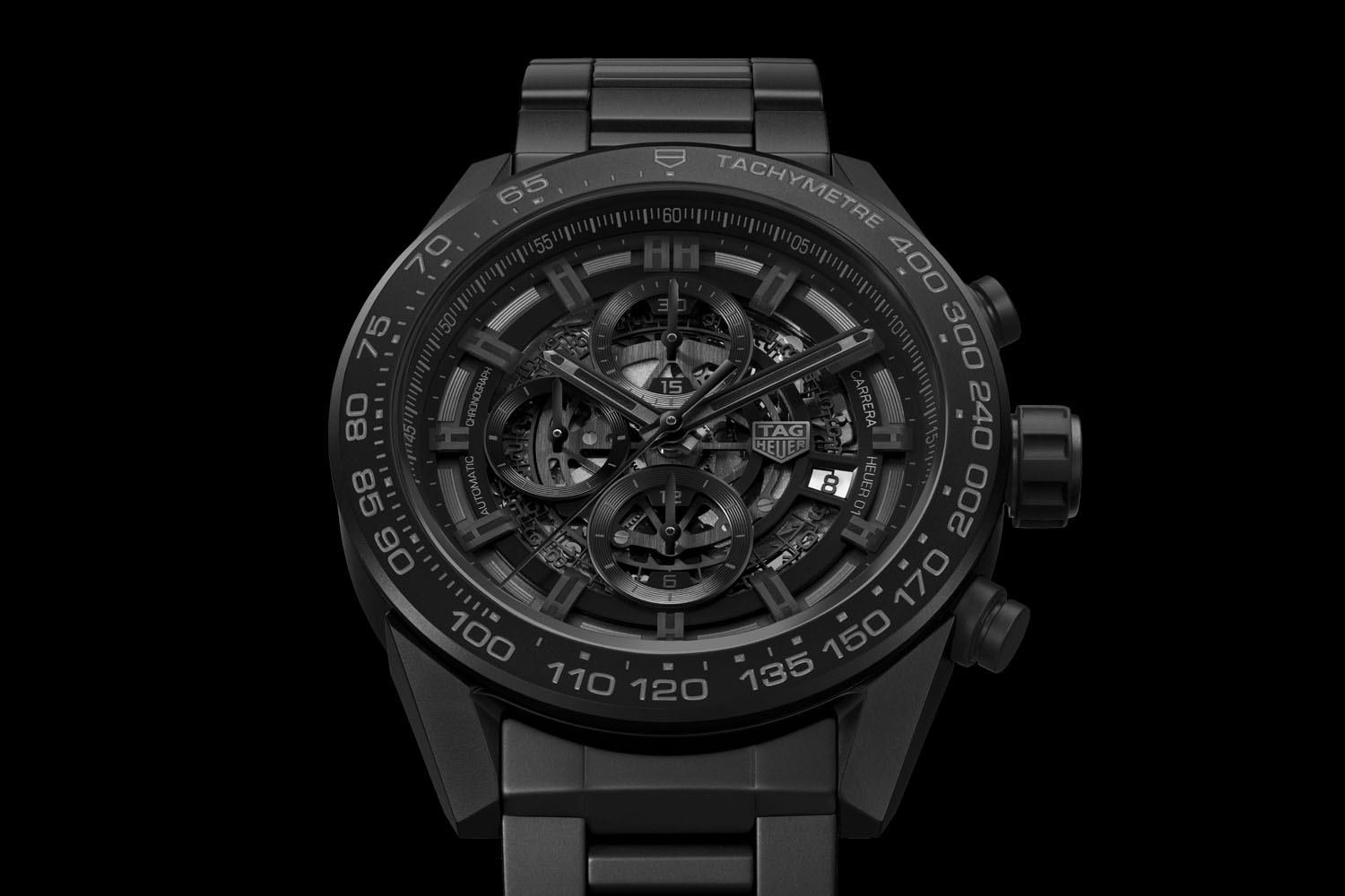 This Tag: TAG Heuer Carrera Heuer 01 Full Black Matt Ceramic (Specs