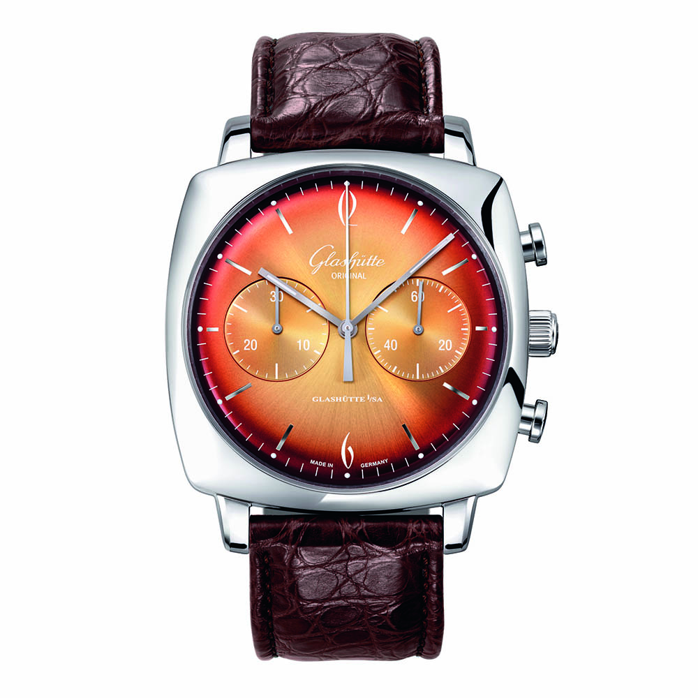 Glashütte Original Sixties Iconic Square Tangerine