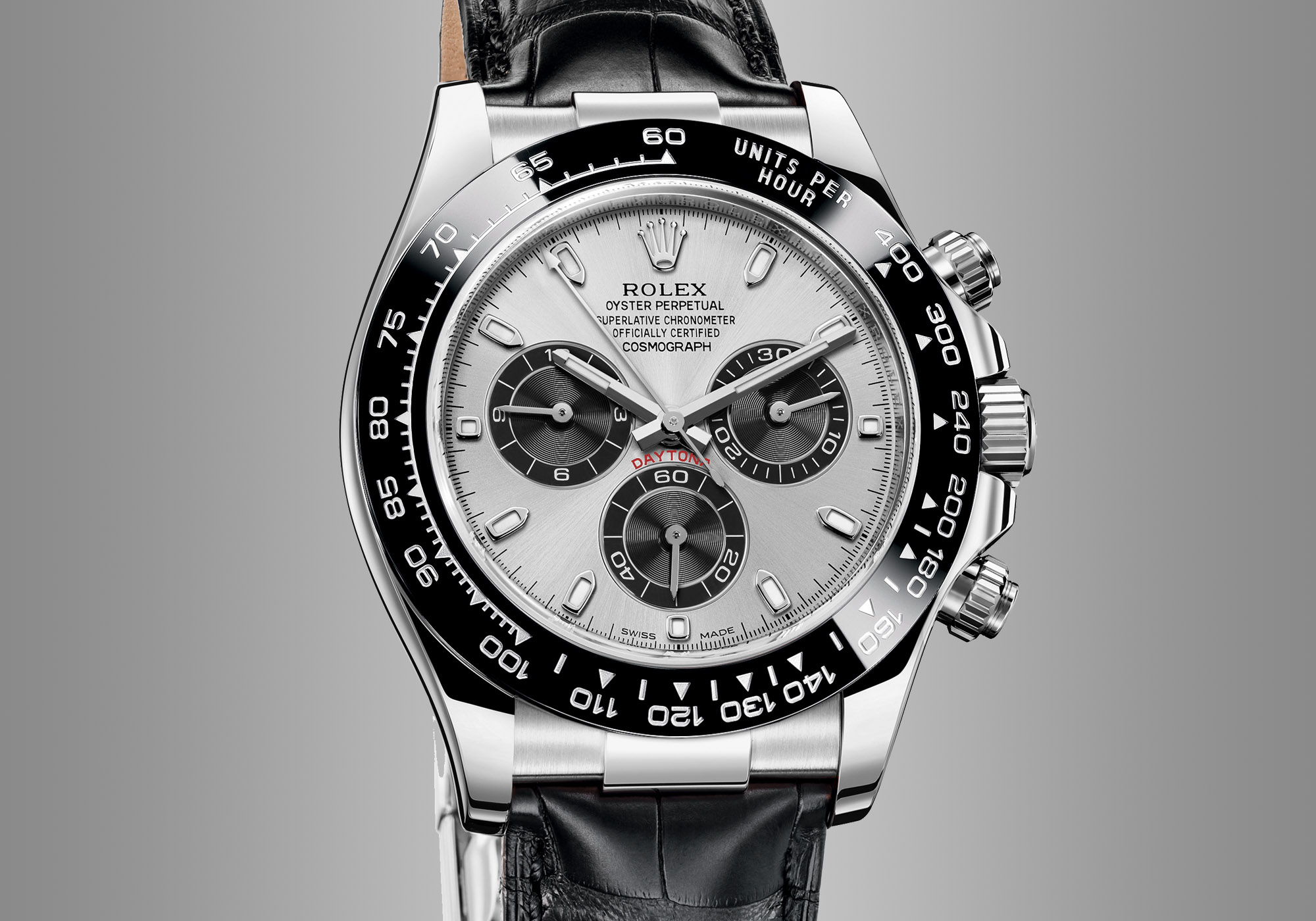 Rolex Daytona White Gold Ceramic Silver Dial leather - Rolex Baselworld 2017 - Rolex Predictions 2017