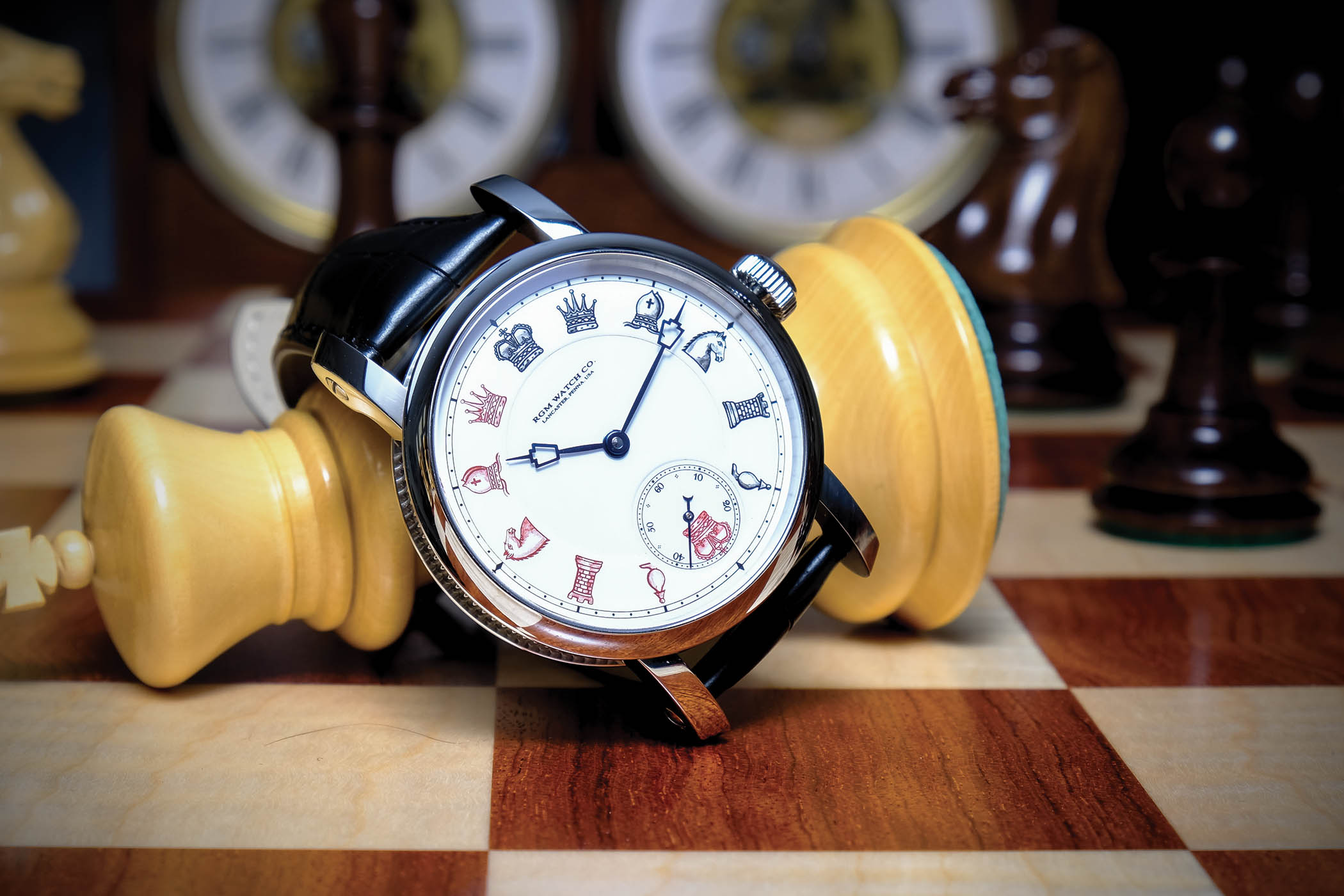 RGM Chess in Enamel American-Made Watch