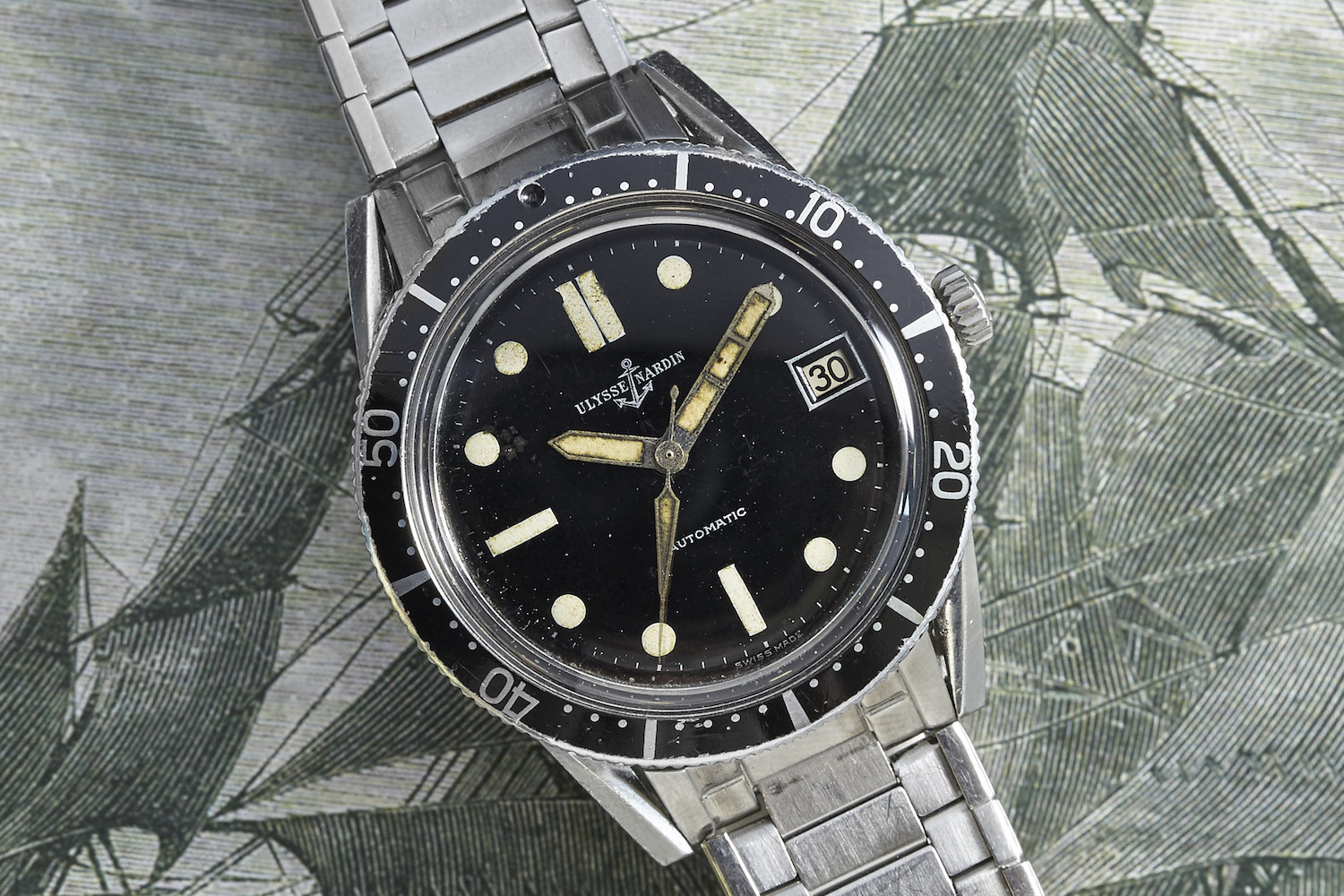 Ulysse Nardin Diver 1960s - Source Analog Shift