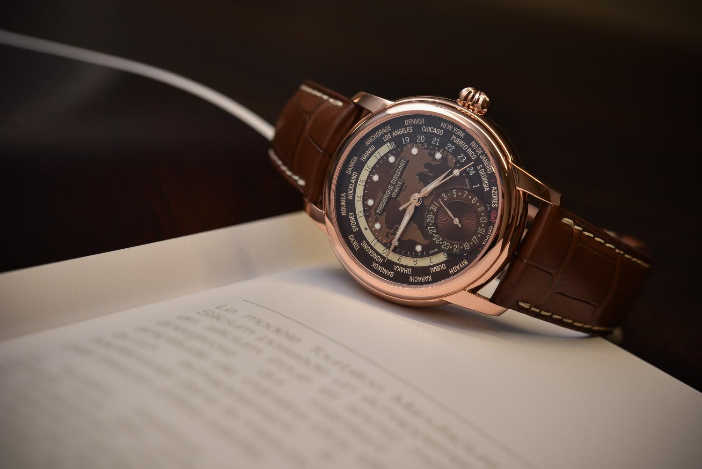 Frederique Constant Classic Manufacture Worldtimer Brown Dial