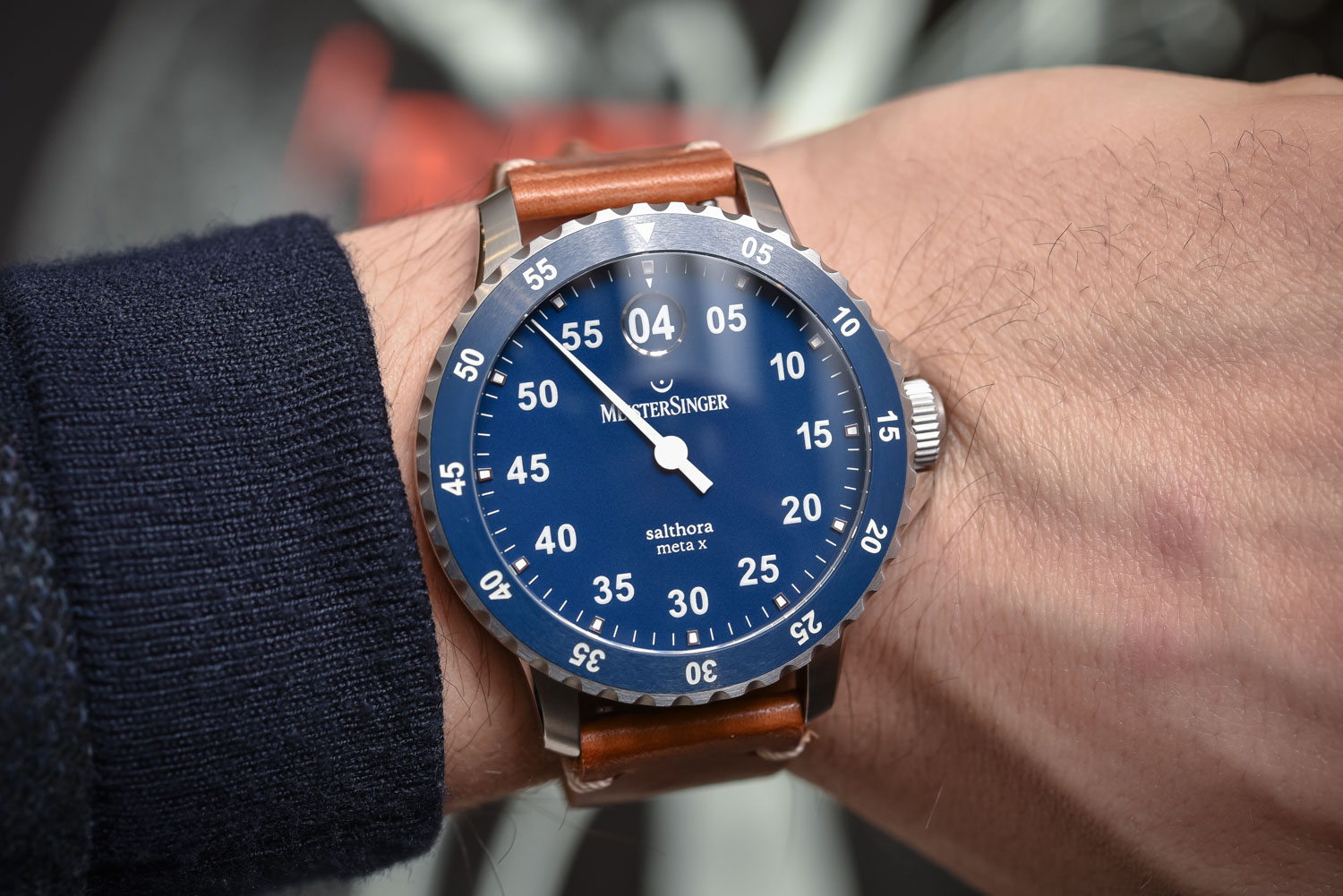 MeisterSinger Salthora Meta X (Single-Hand   Jumping Hour Dive Watch ... 7803bc870a