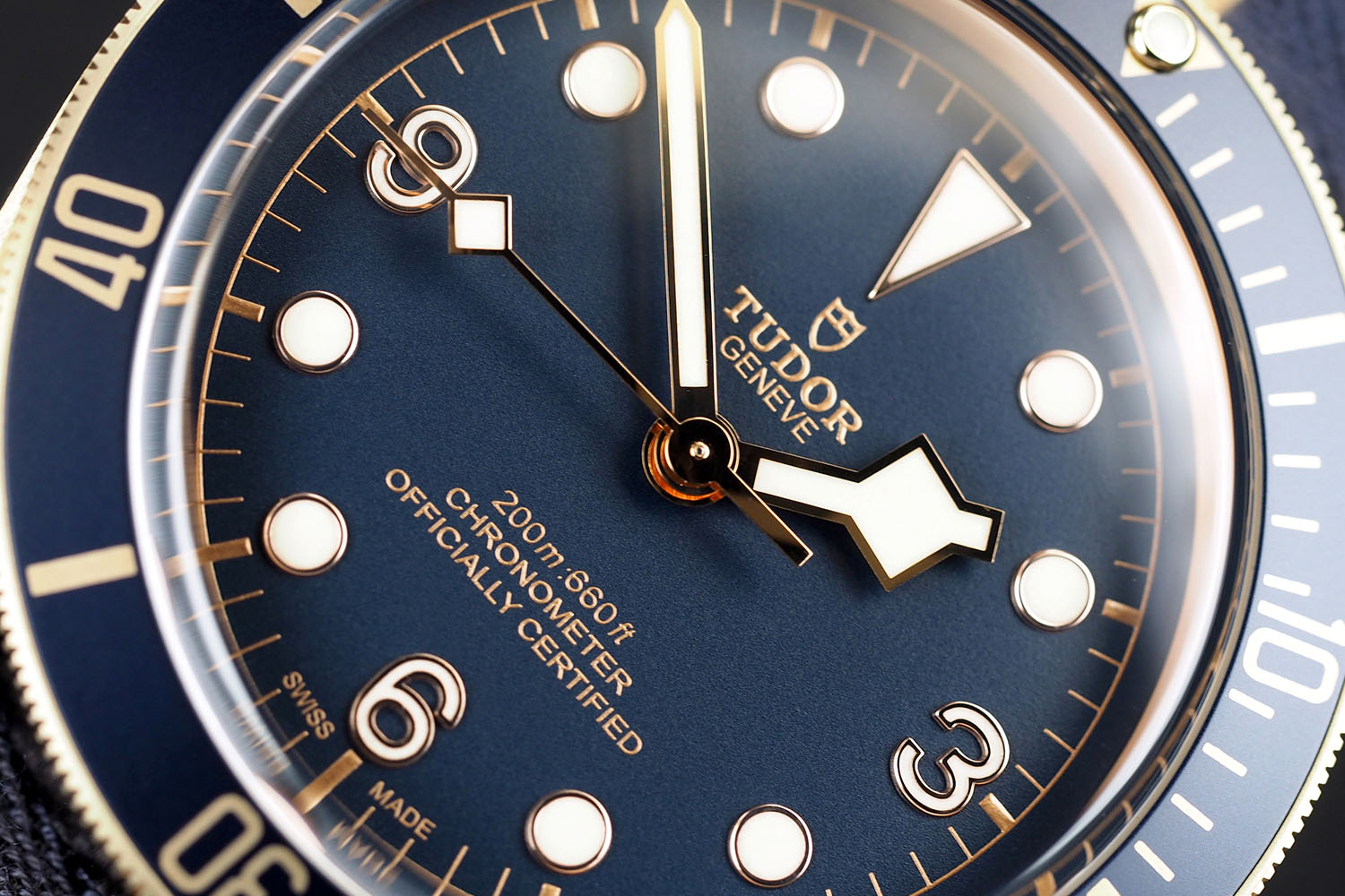 Tudor Heritage Black Bronze Blue Bucherer
