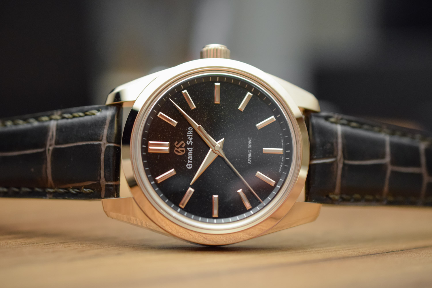 Grand Seiko Spring Drive 8-Day Rose Gold Sparkling Black Dial SBGD202