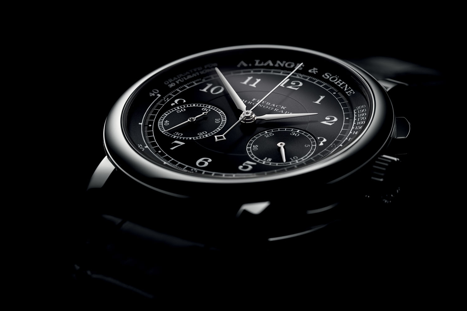 A. Lange & Söhne 1815 Chronograph Black Pulsometer Dial white gold