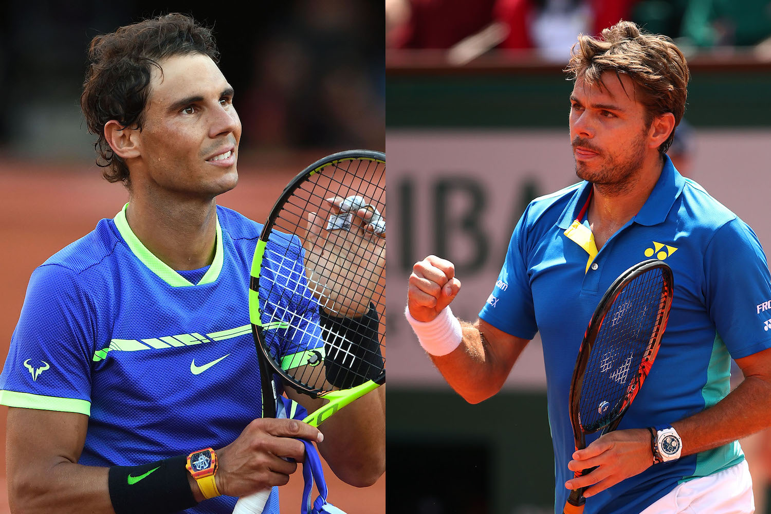 French Open Roland-Garros 2017 Final - Nadal vs Wawrinka - Richard Mille vs Audemars Piguet