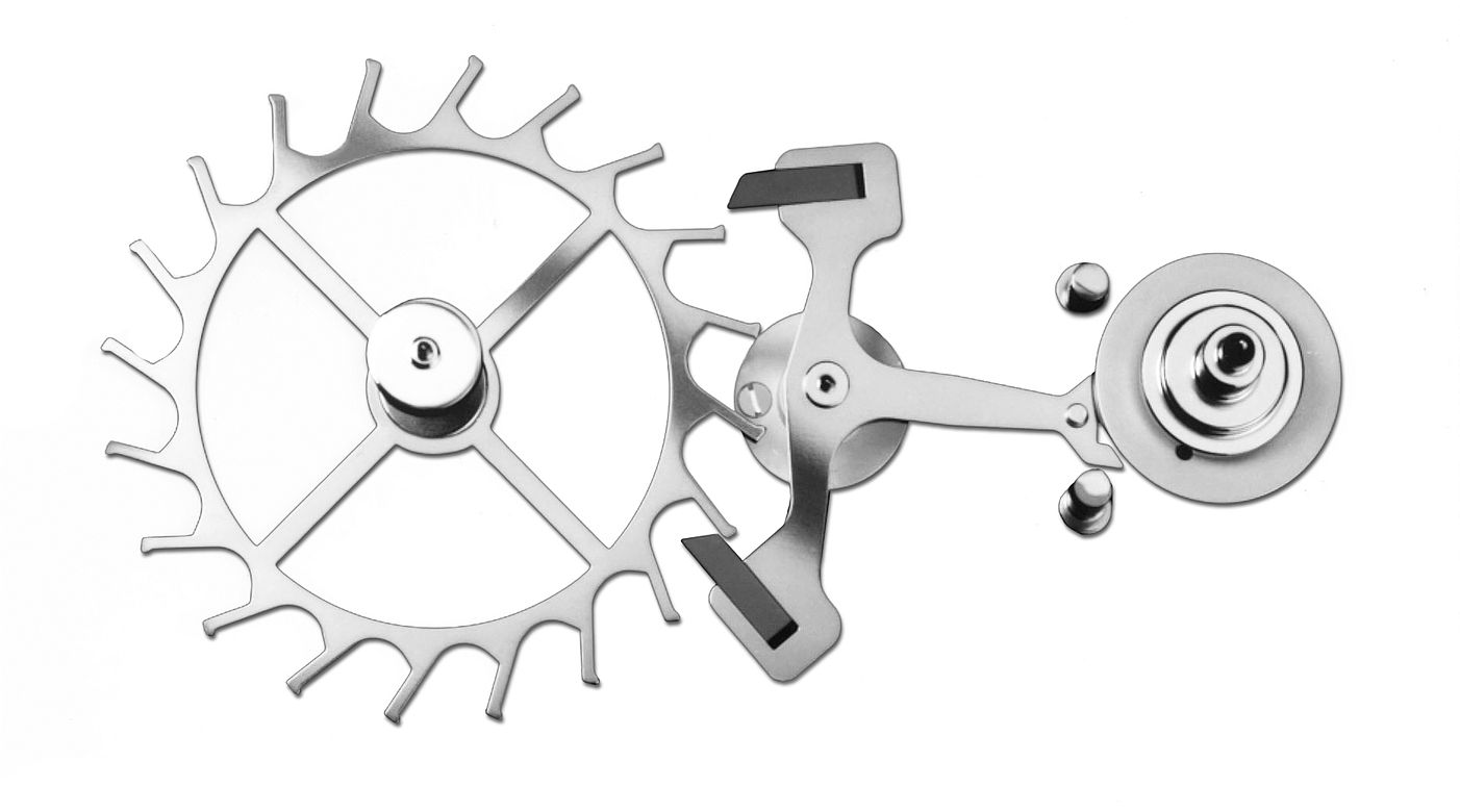 Swiss lever escapement scheme