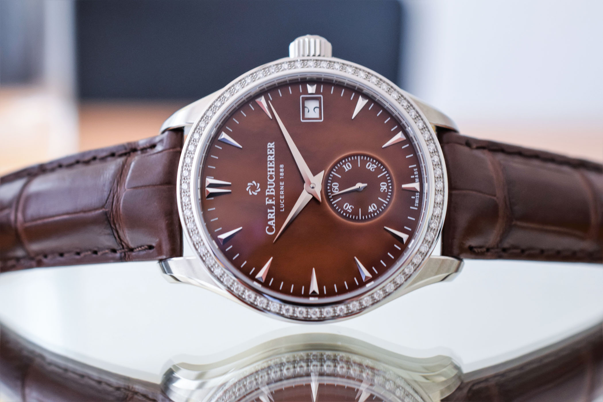 Carl F Bucherer Manero Peripheral Lady diamond bezel
