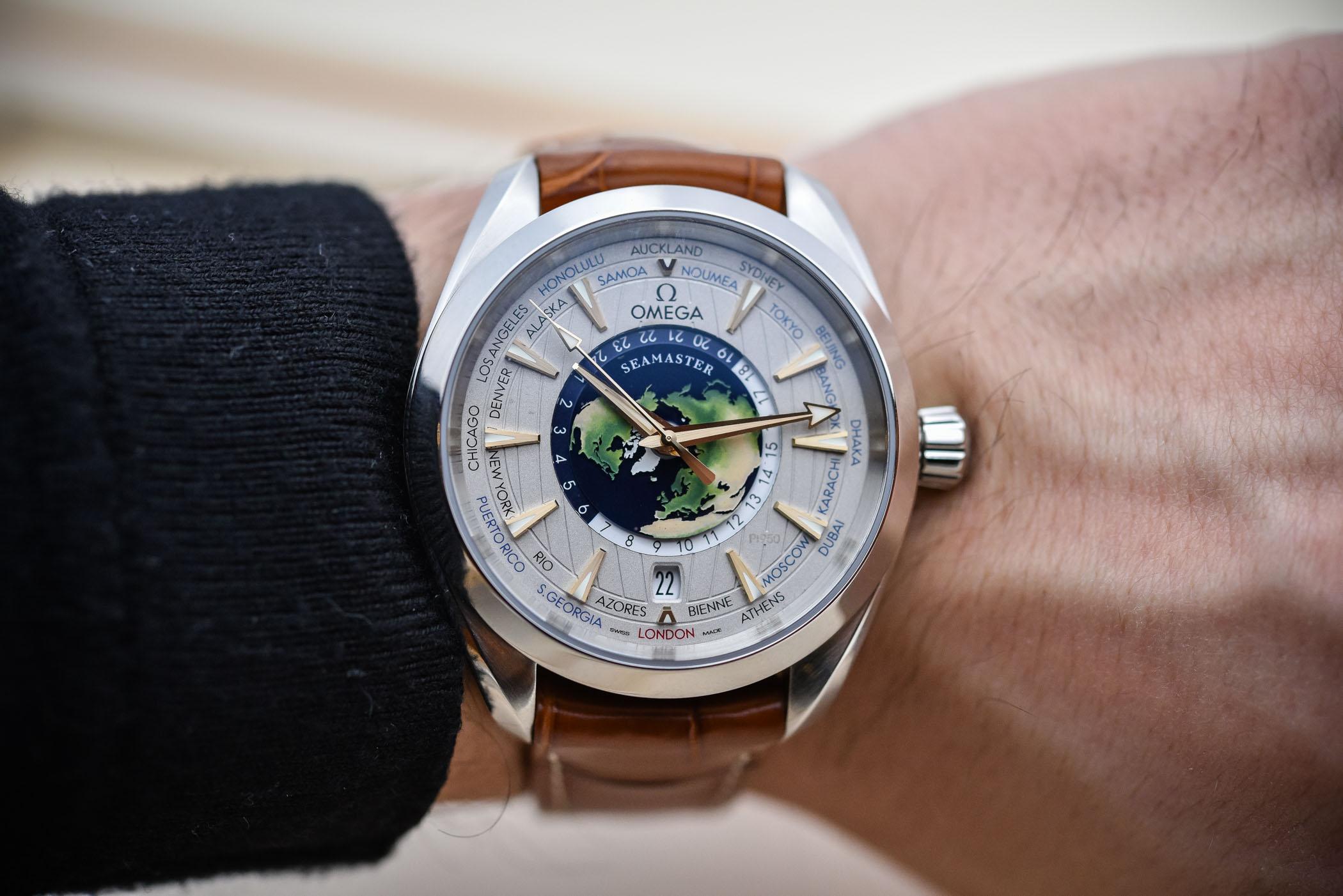 Omega Seamaster Aqua Terra Worldtimer Platinum - 220.93.43.22.99.001