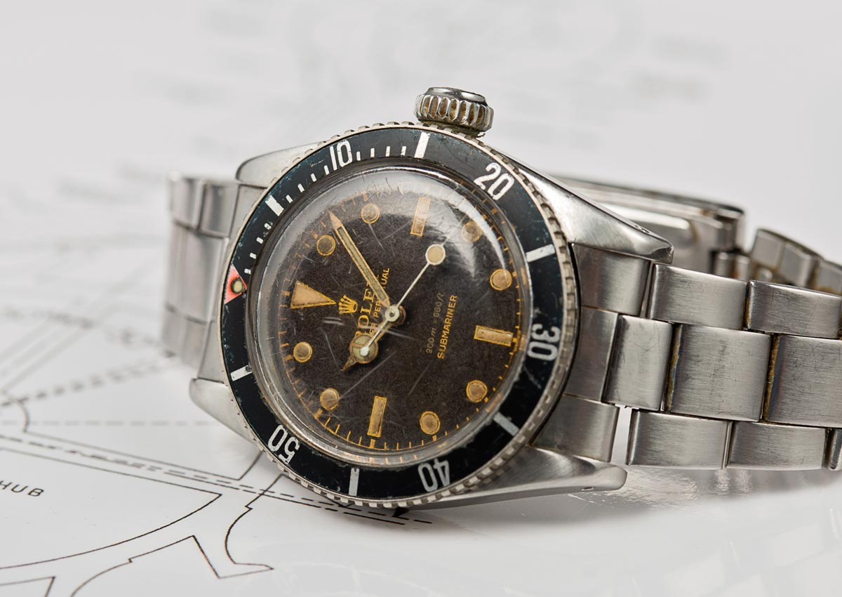 Rolex Submariner Bond Reference 6538 Big Crown