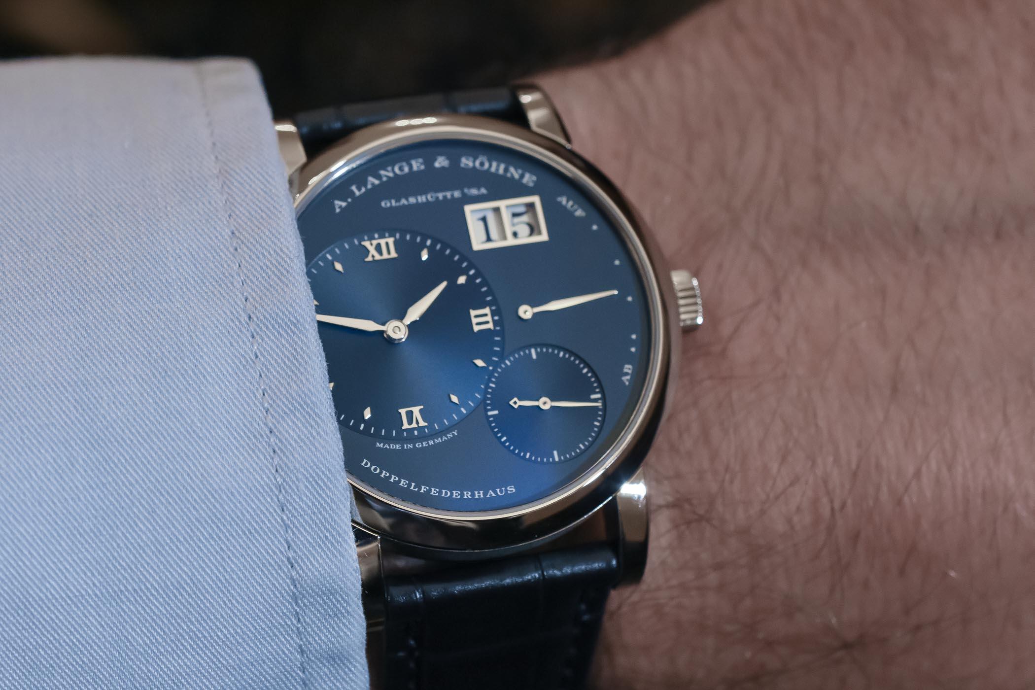 A. Lange and Sohne Lange 1 Blue Dial 191.028