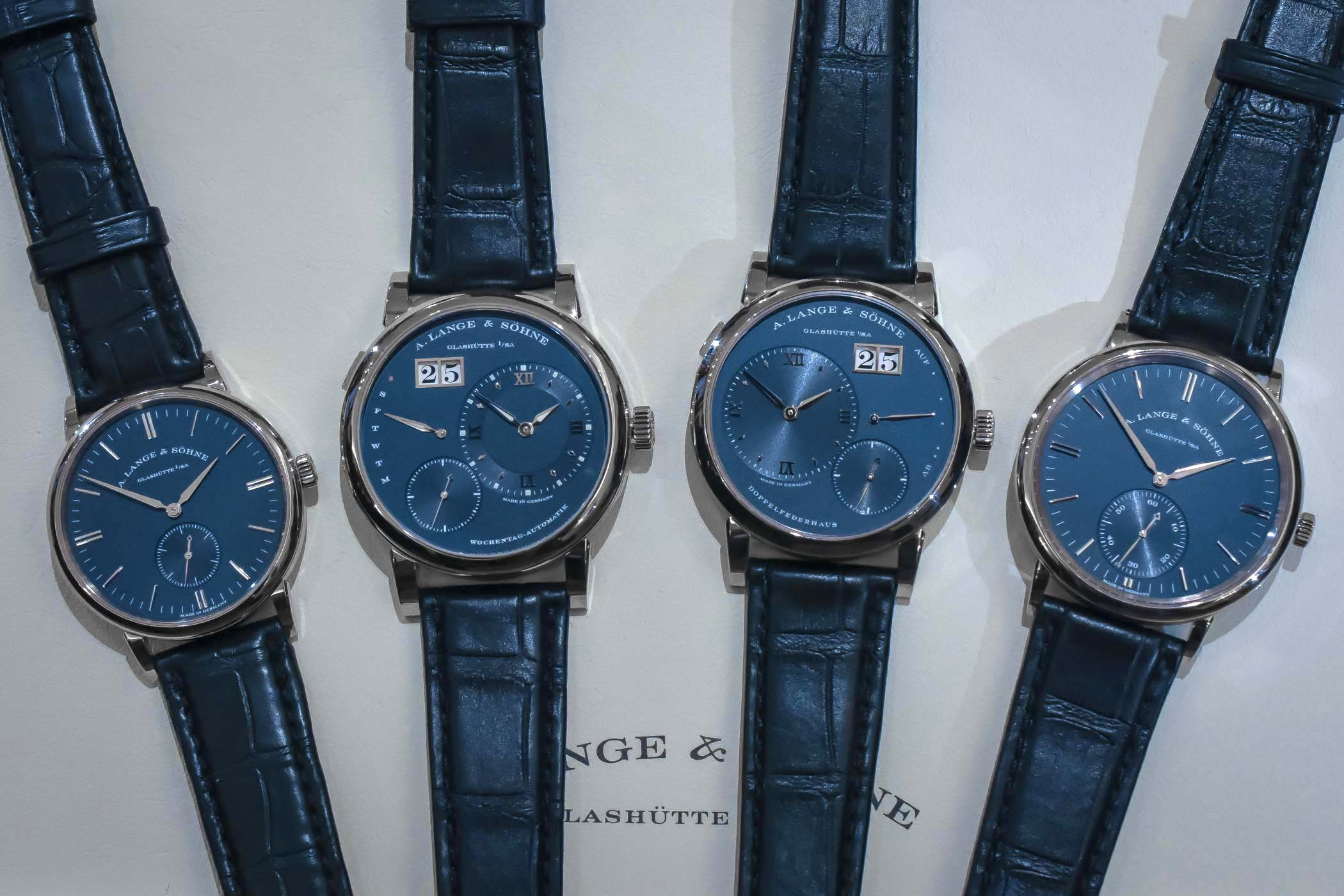 A. Lange and Sohne Lange 1 - Saxonia Collections Blue Dials
