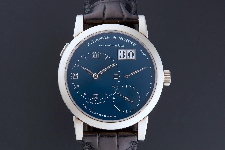 A. Lange and Sohne Lange 1 blue dial 101.027