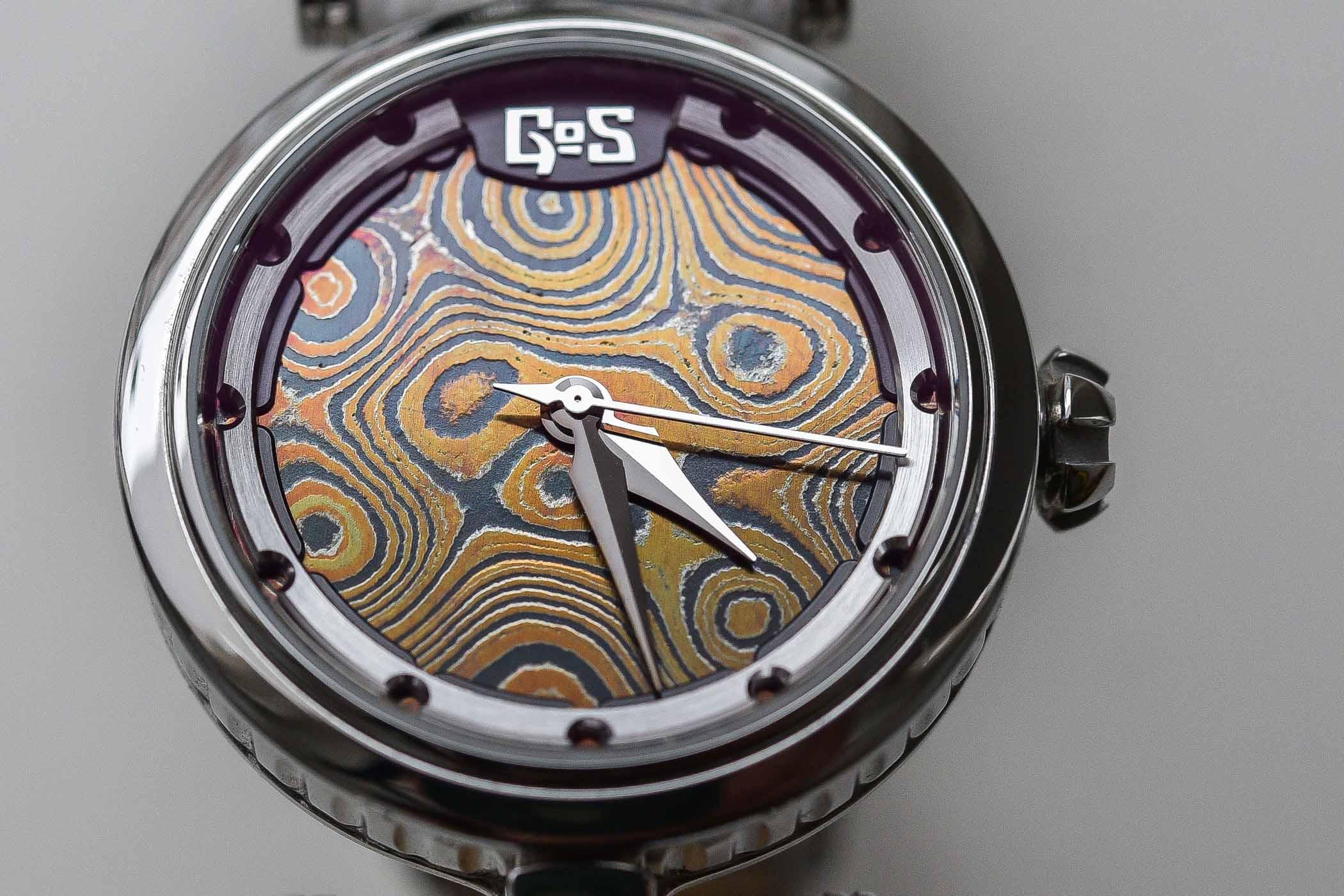 GoS Watche Sarek Ladies Damascus steel dial