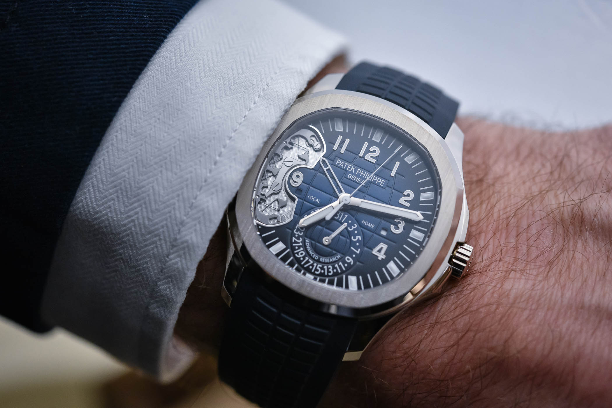 Patek Philippe Advanced Research Aquanaut Travel Time Ref 5650g
