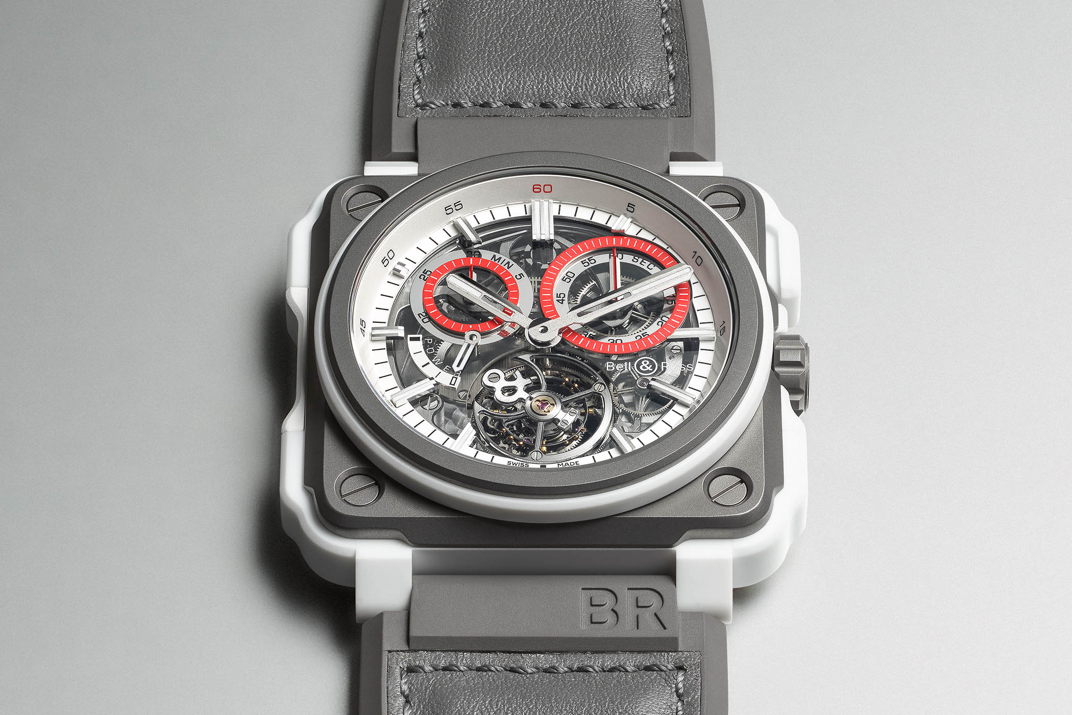 Bell & Ross BR-X1 White Hawk Chronograph Tourbillon Hand-wound Monopusher