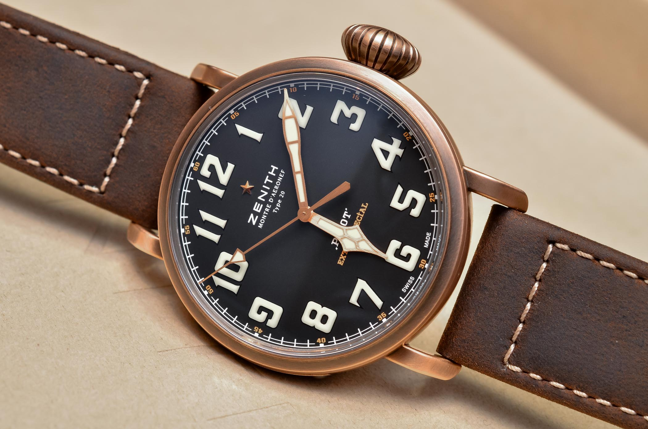 Buying Guide Bronze Watches - Zenith Type 20 Extra Special Bronze