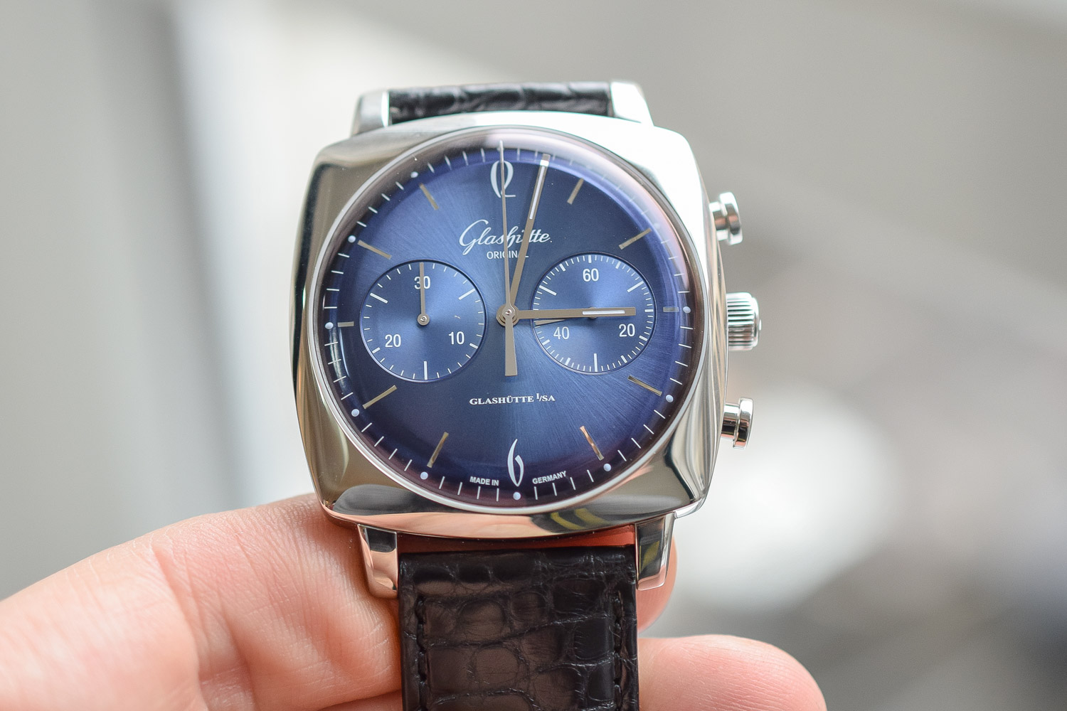 Buying Guide Cushion Watches - Glashutte-Original-Sixties-Iconic-Square-Chronograph