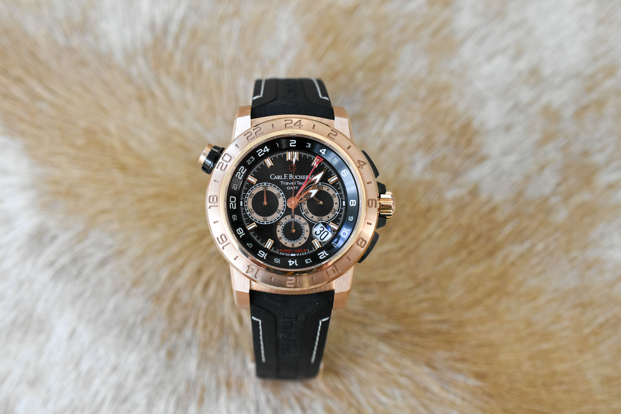 Carl F. Bucherer TraveTec II rose gold