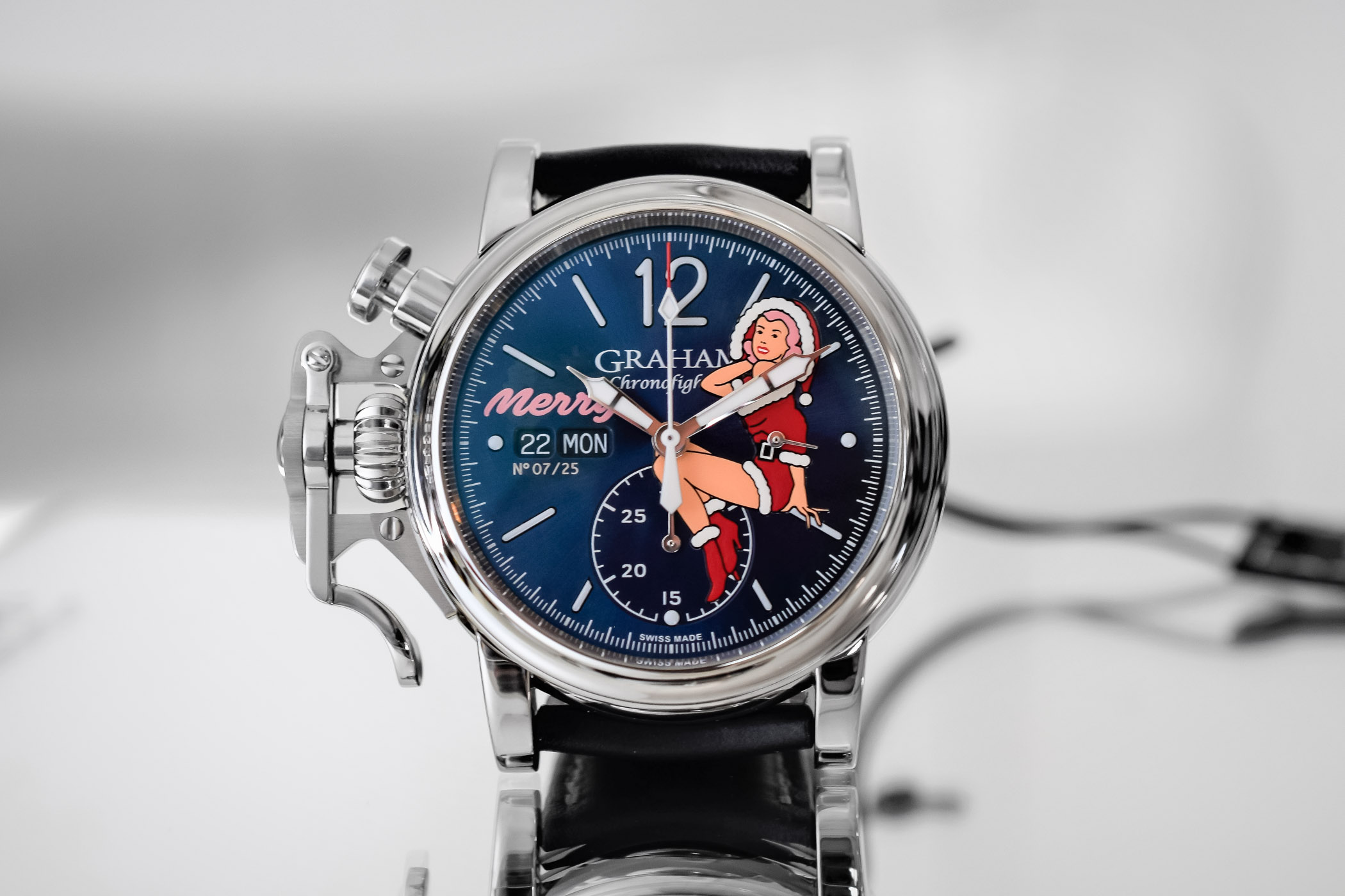 Graham Chronofighter Vintage Nose Art Merry Ltd