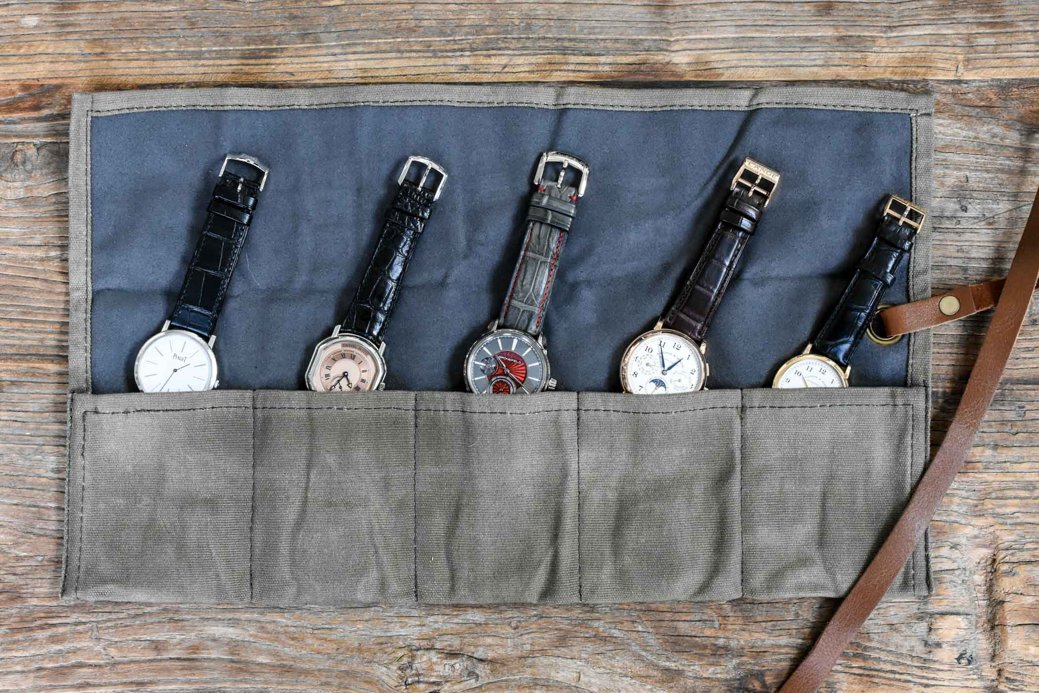 Canvas watch roll