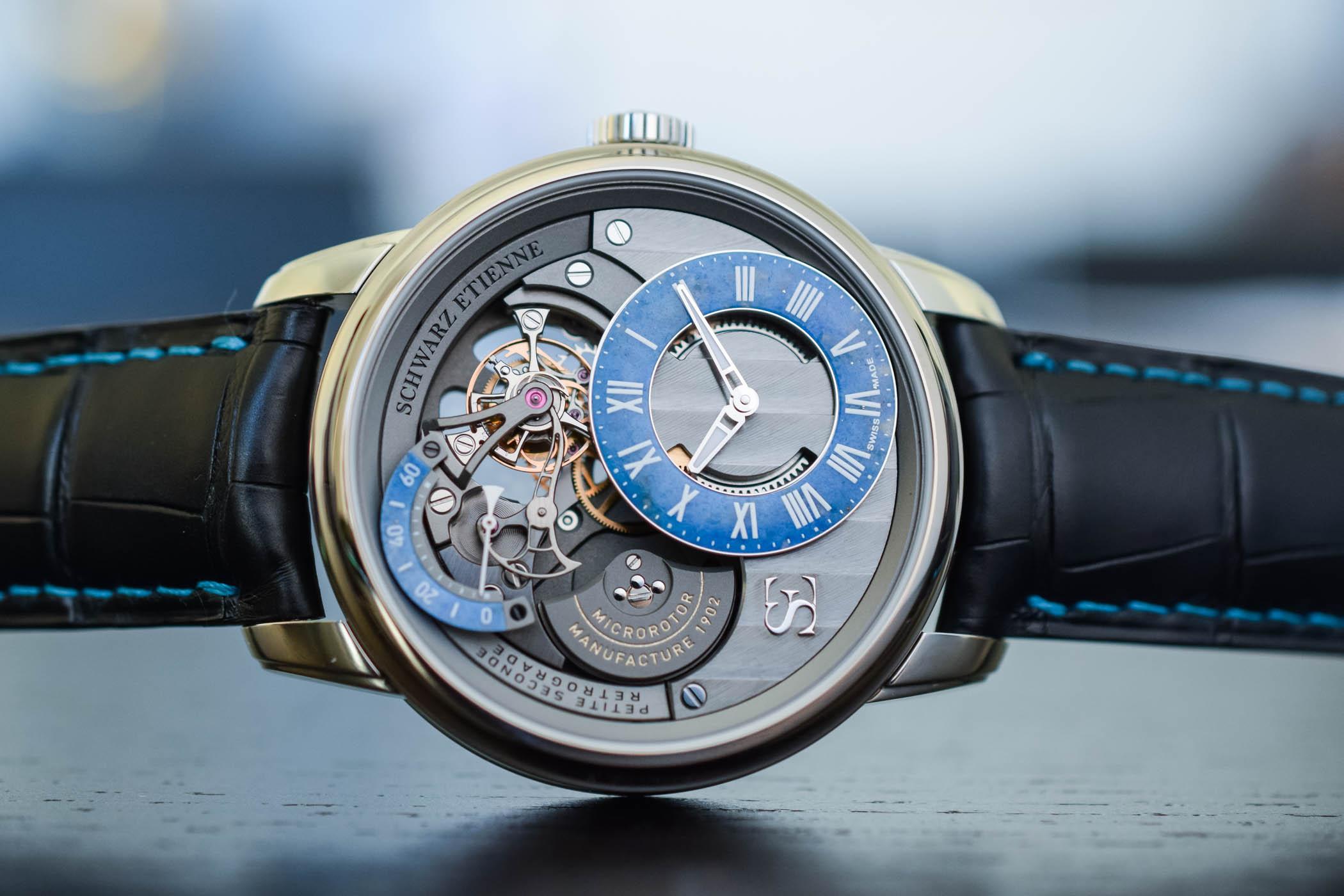 Schwarz Etienne La Chaux-de-fonds Tourbillon Petite Seconde Retrograde - Steel Lapis Lazuli