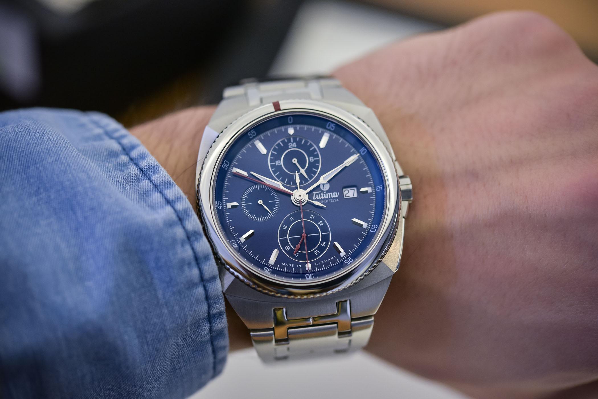 Tutima Saxon One Chronograph Royal Blue Dial