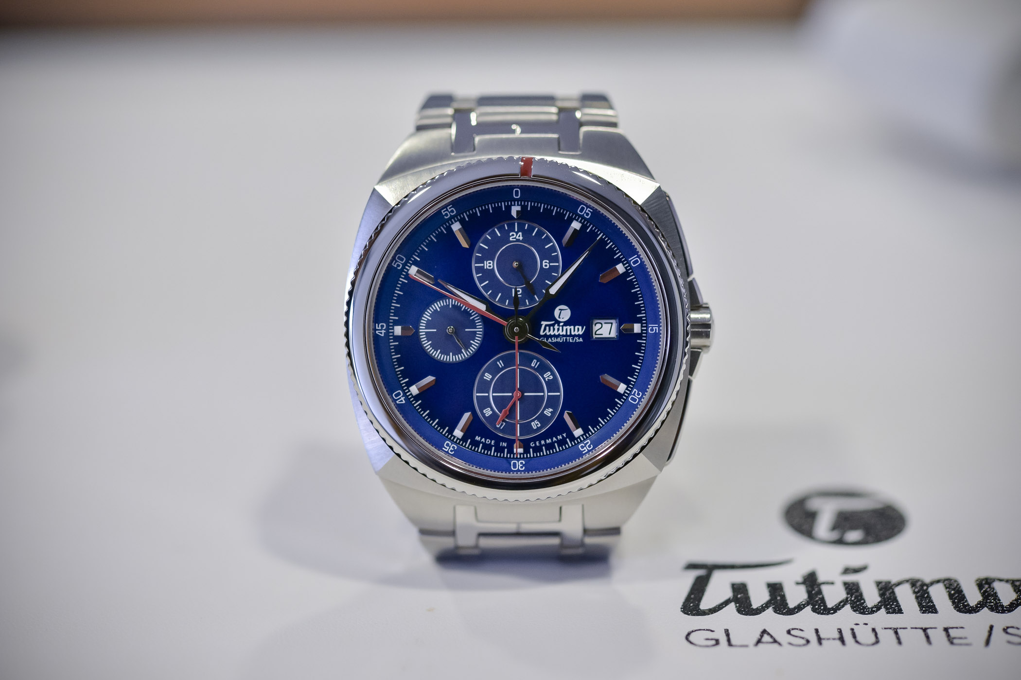 Tutima Saxon One Chronograph Royal Blue Dial