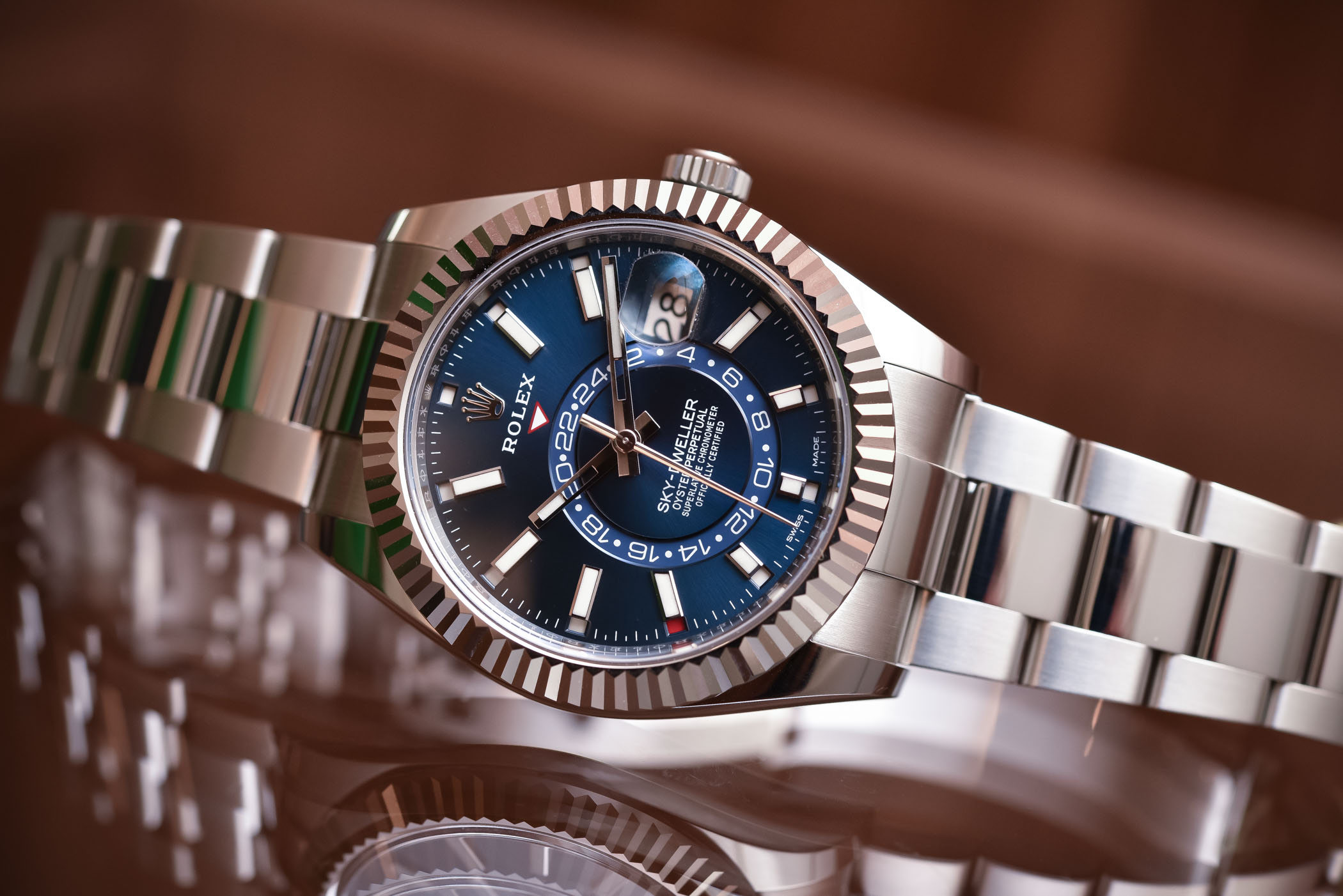 Buying Guide 2017 Annual Calendar Watches - Rolex Sky-Dweller Steel 326934