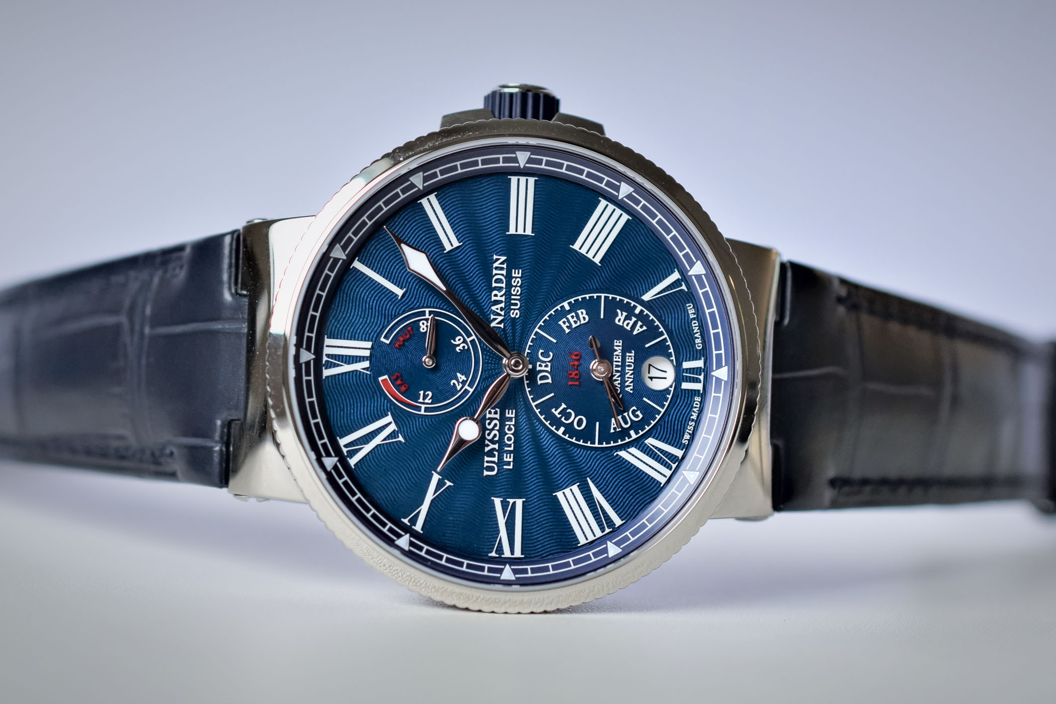 Buying Guide 2017 Annual Calendar Watches - Ulysse Nardin Marine Chronometer Annual Calendar