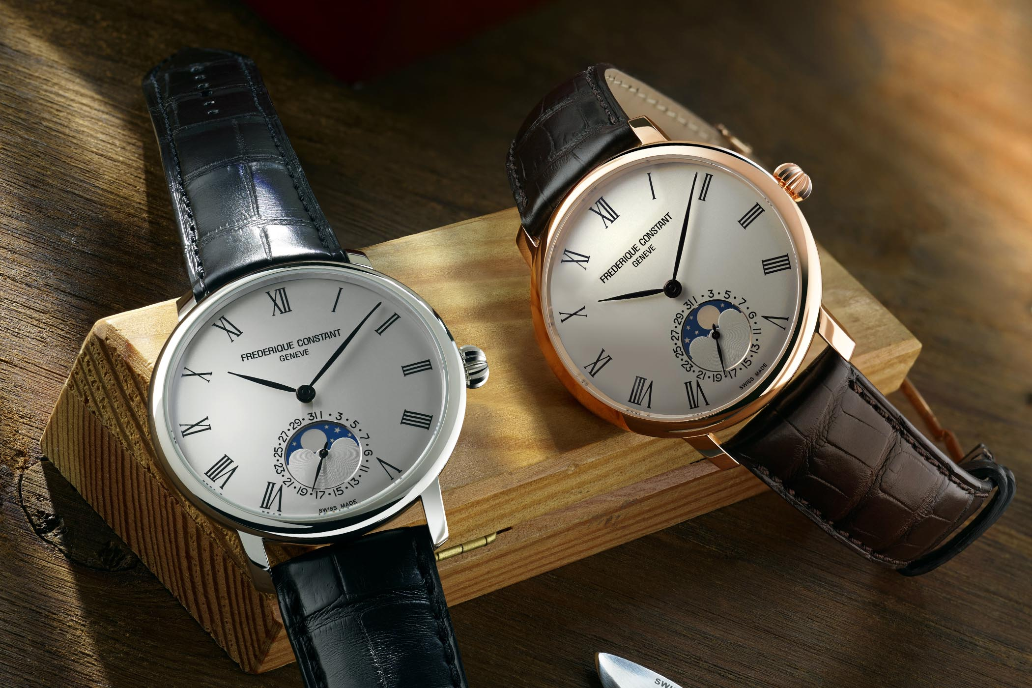 Frederique Constant Slimline Moonphase Manufacture With Roman Numerals 9dbfeaa96072