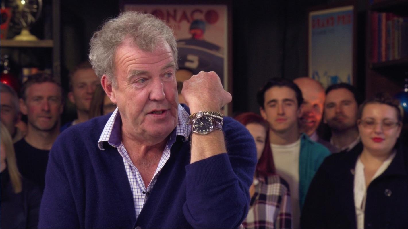 Jeremy Clarkson The Grand Tour talks about his Omega railmaster XXL
